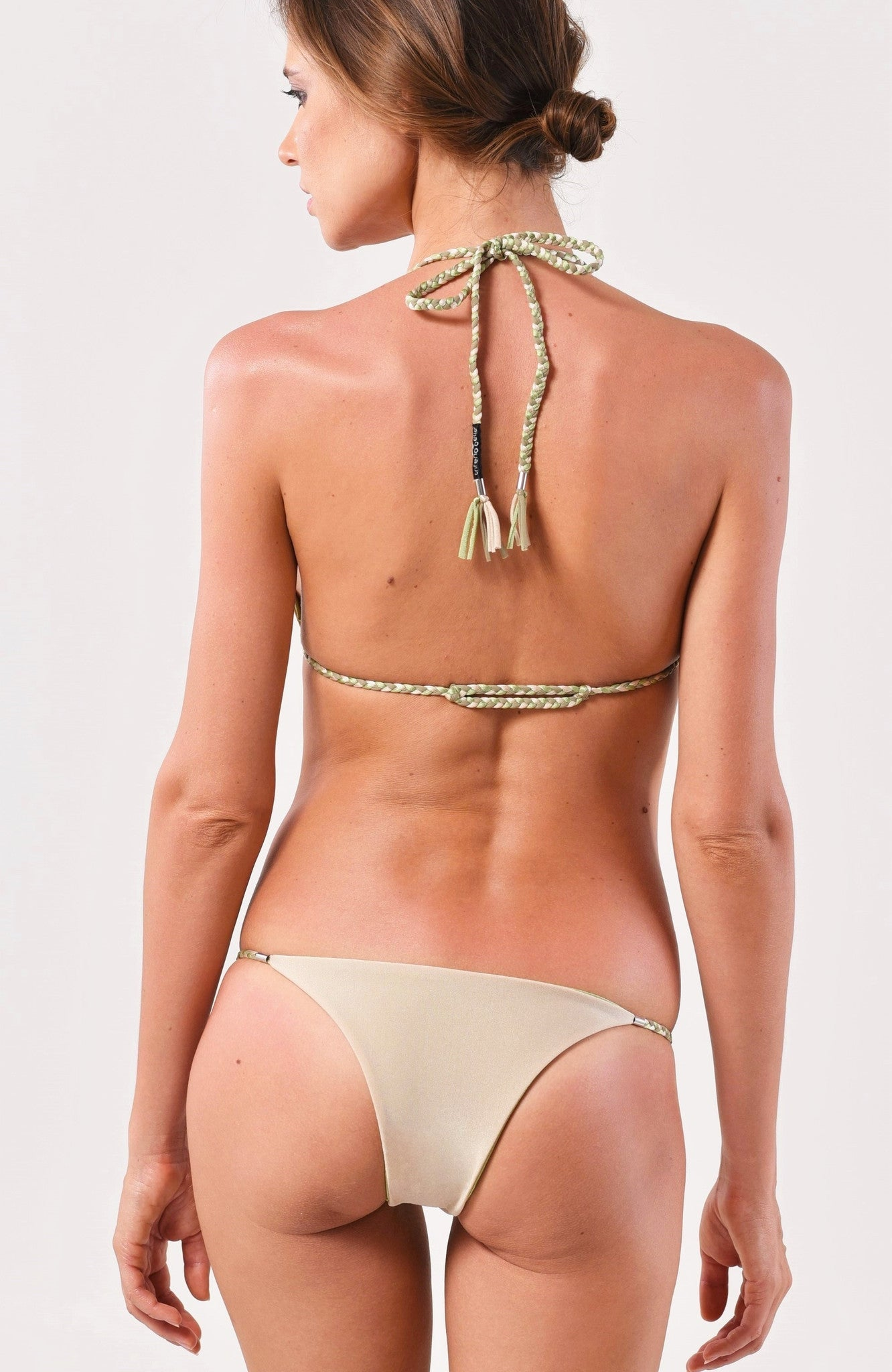 Nude/Pistachio Sliding Triangle Top x String Bottom