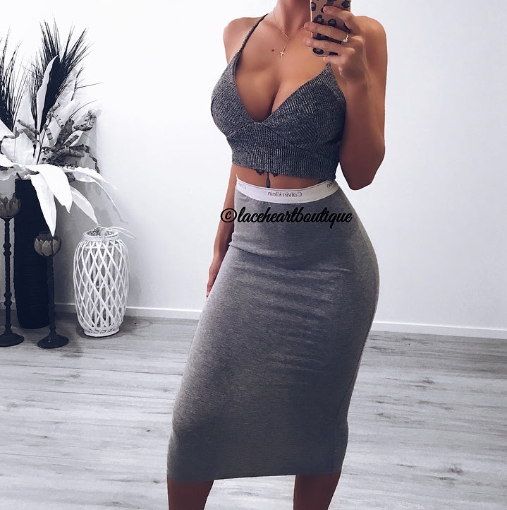 JAYLA CROP GREY