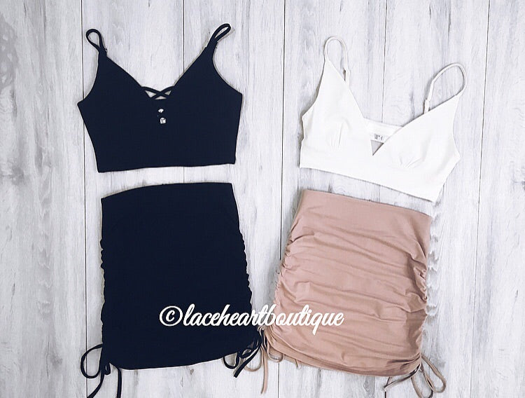 ALICE CROP WHITE