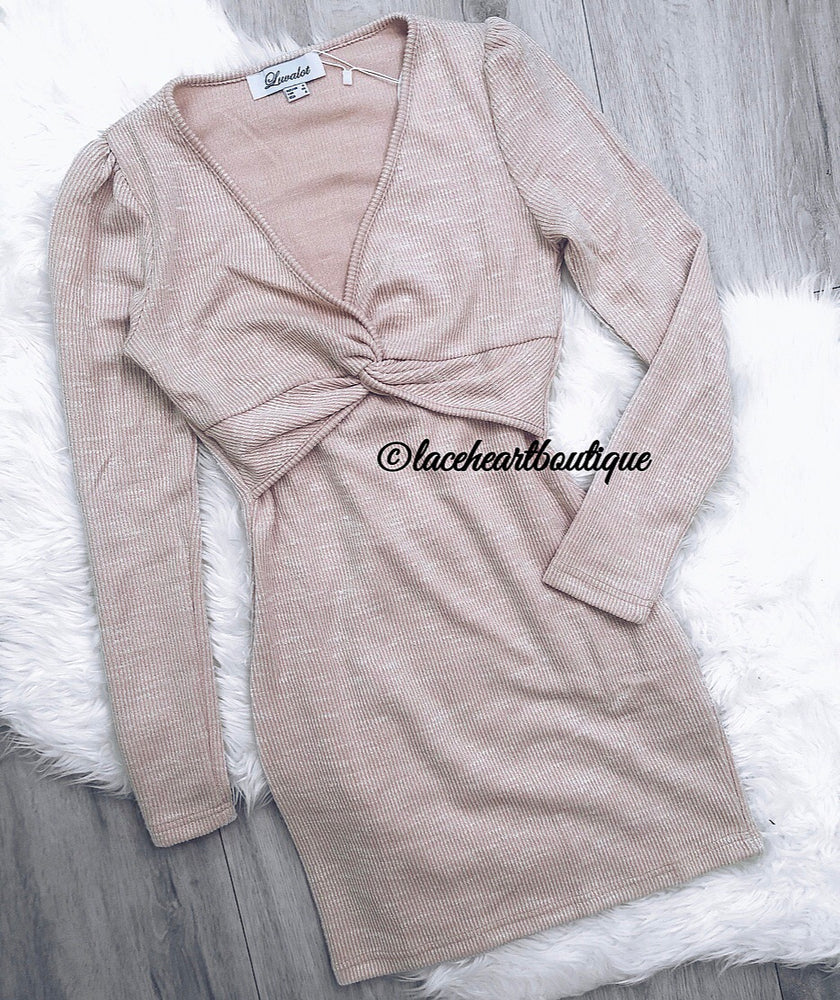 AIMEE DRESS BEIGE
