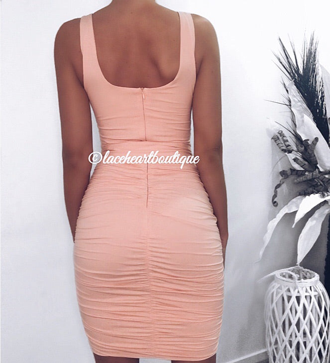 BLAIR DRESS PEACH