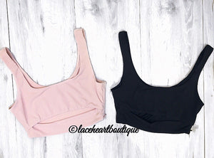 RILEY CROP BLACK