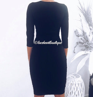 ELAINE DRESS BLACK