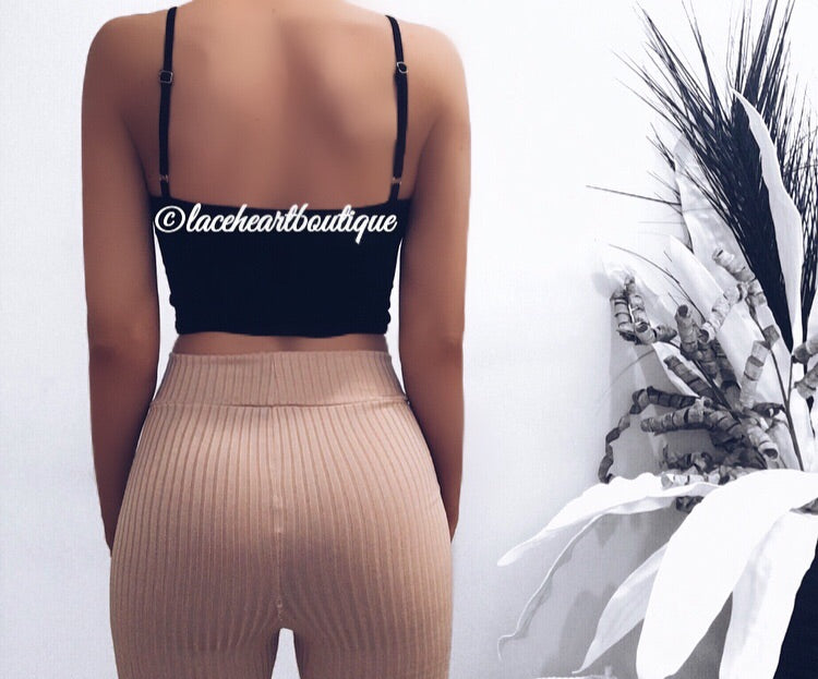 CLAIRE CROP BLACK