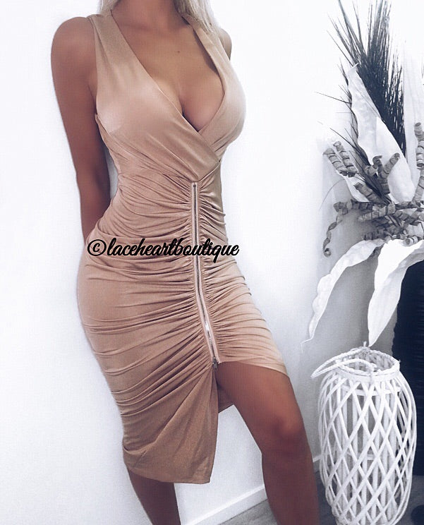 ASHLEY DRESS BEIGE