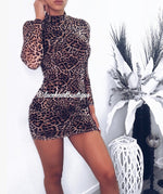 ADDISON DRESS LEOPARD