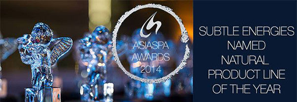Announcing Subtle Energies as Winner, Natural Product Line of the Year, at 2014 AsiaSpa Awards