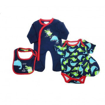 Croc and Dino Romper Set