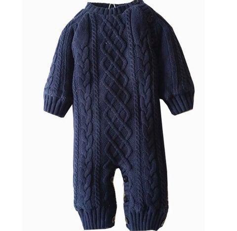 Knitted Romper Suit - Rompers Baby Boutique