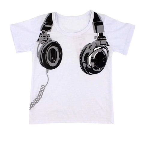 Headphone Tee - Rompers Baby Boutique