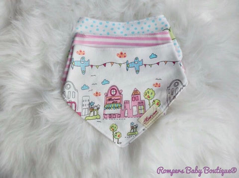 Girls Pack 3 Bibs