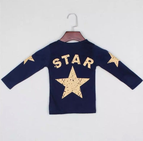 Star Long Sleeved Top - Rompers Baby Boutique