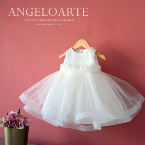 Lace Ribbon Christening Gown