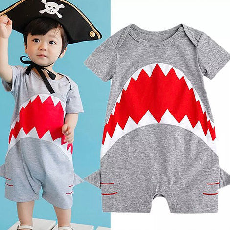 Jaws Romper Suit - Rompers Baby Boutique