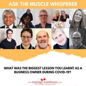 What was the biggest lesson you learnt as a business owner during Covid-19? Ask the Muscle Whisperer Series