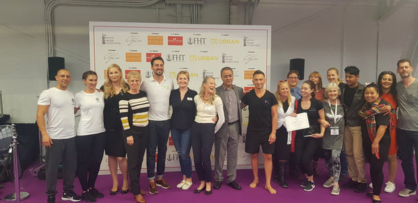 Judges with the finalists of 2019's National Massage Championships
