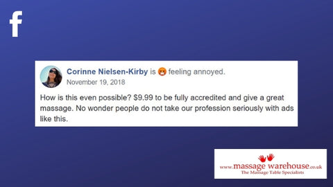 Facebook comment about online training from Corinne Nielson-Kirby