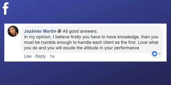 Facebook post from Jazanier Martin about what it takes to be the best massage therapist.