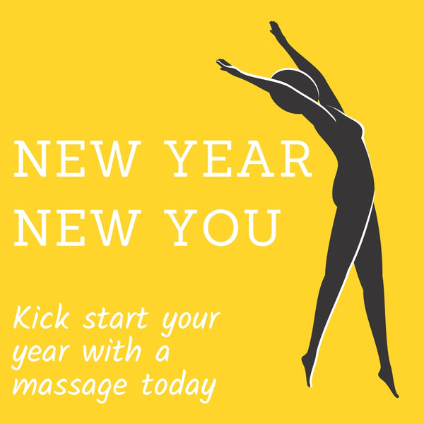 Post for social media to promote massage as part of a New Year detox program