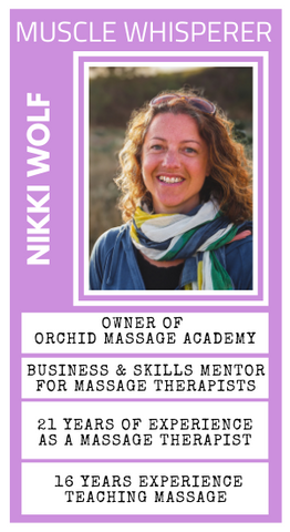 Nikki Wolf joins Ask The Muscle Whisperer from Massage Warehouse