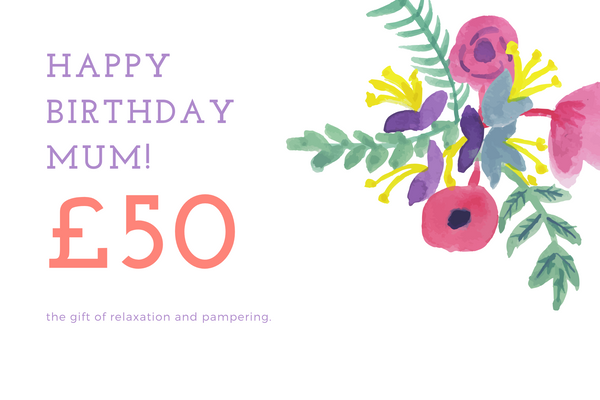Gift card for Mum's birthday
