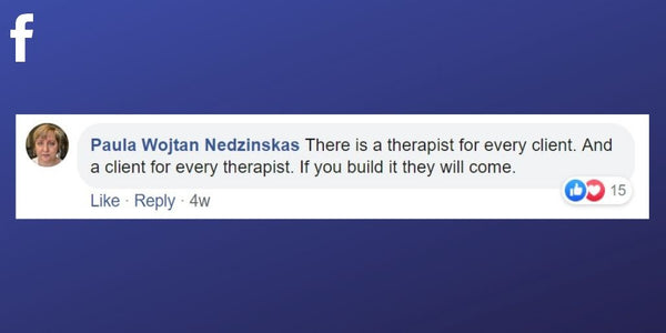 Facebook post from Paula Wojtan Nedzinskas about there being a massage therapist for every type of client