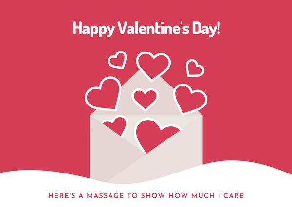 Valentines Day template for offer for massage therapy businesses