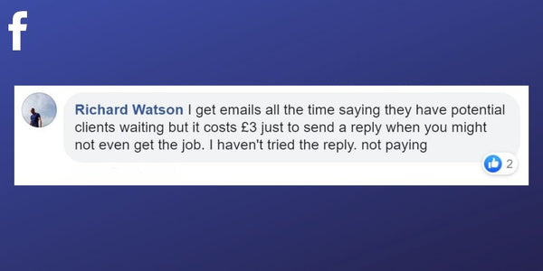 Facebook post from Richard Watson about directory messages which charge to reply