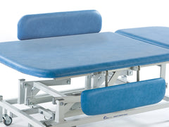 Seers Treatment Electric Hydraulic Therapy Couch Cushioned Side Arm Rail Support