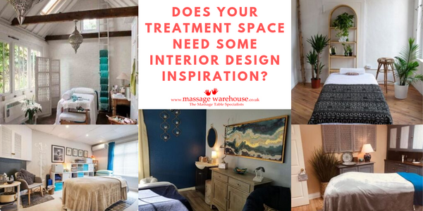 Images of stylish massage treatment rooms with the question does your treatment space need some interior design inspiration?