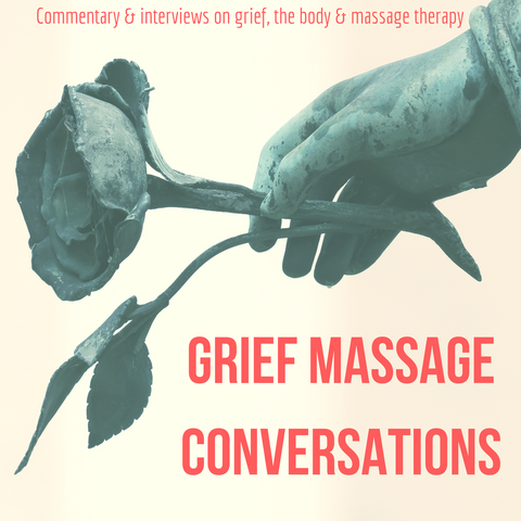 Logo for the grief massage conversations podcast