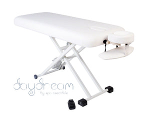 daydream electric massage table with arm shelf and head cradle