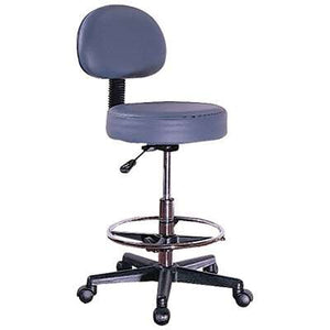 PortaLite Therapist's Rolling Stool with Back Rest