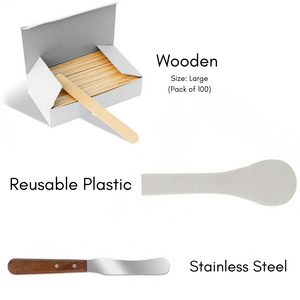 SPATULAS FOR SCOOPING MASSAGE WAX (for hygiene & qty control)