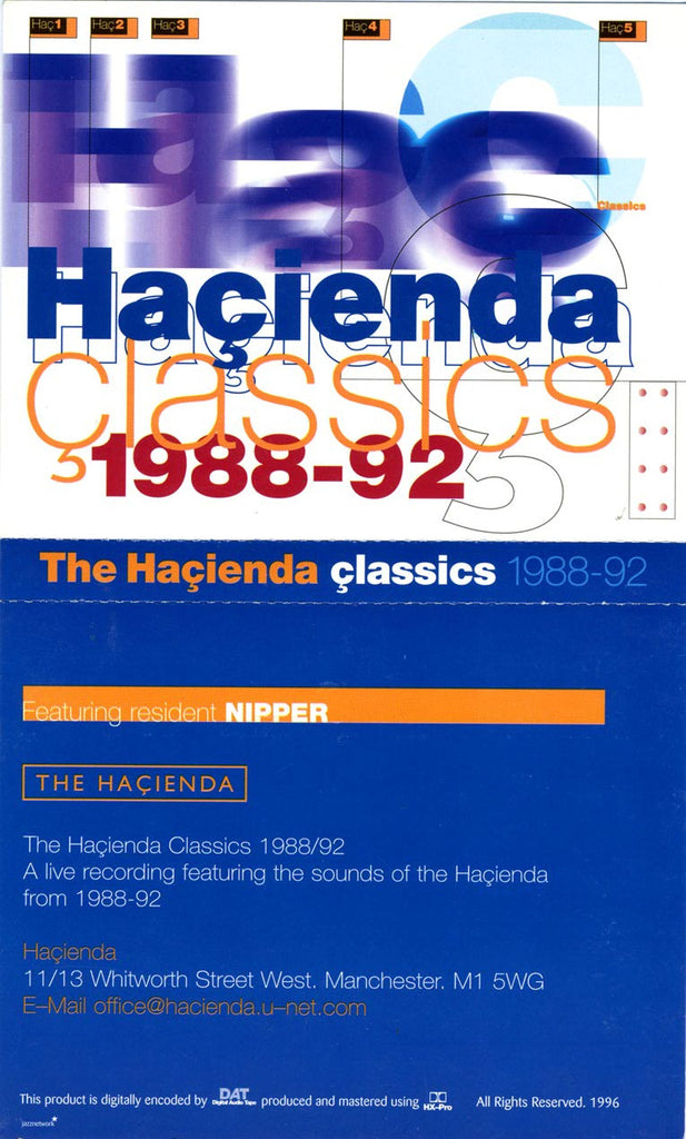 Boxed: Hacienda Classics Part1 - DJ Nipper [Download]
