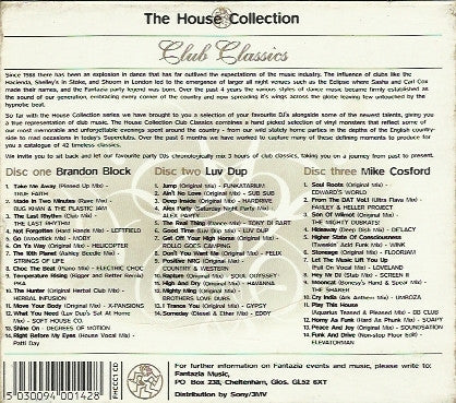 Various - Fantazia House Collection (Club Classics, 1996) Luvdup / Brandon Block / Mike Cosford