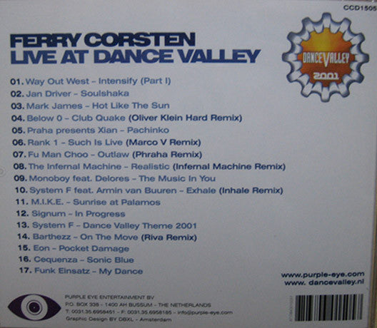 Ferry Corsten  ‎–  Live At Dance Valley 2001
