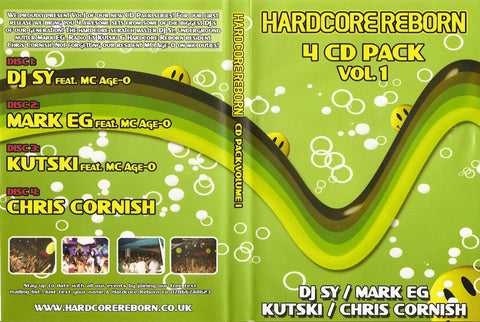 Hardcore Reborn - 4 CD Pack Vol.1 / DJ SY / Kutski / Mark EG / Chris Cornish
