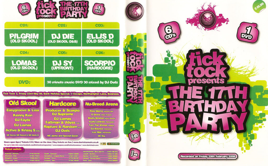 Tick Tock Presents The 17th Birthday Party