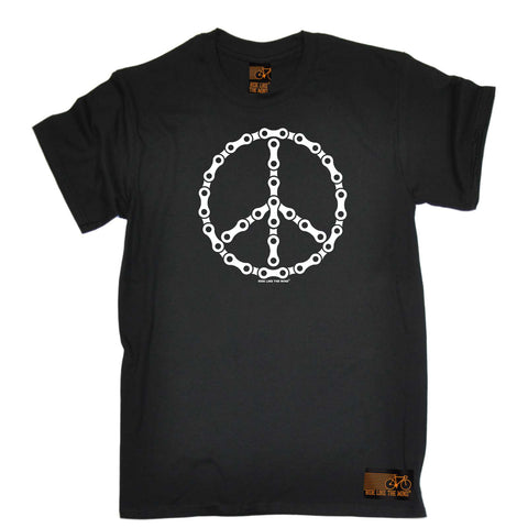 Ride Like The Wind Cycling Tee - Peace Chain - Mens T-Shirt