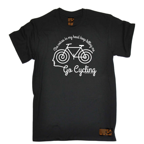 Ride Like The Wind Cycling Tee - The Voices In My Head Keep Telling Me To Go Cycling - Mens T-Shirt