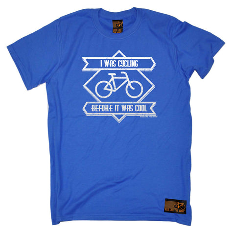 Ride Like The Wind Cycling Tee - Square I Was Cycling Before It Was Cool - Mens T-Shirt