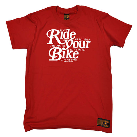 Ride Like The Wind Cycling Tee - Ride Your Bike - Mens T-Shirt