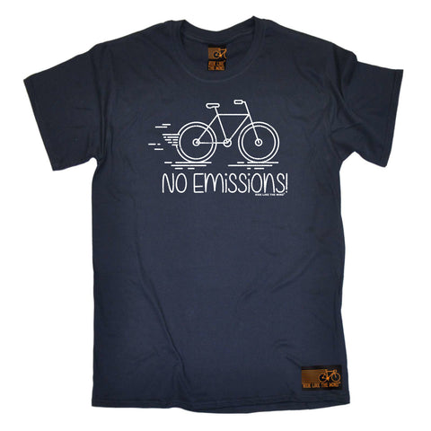 Ride Like The Wind Cycling Tee - No Emissions - Mens T-Shirt