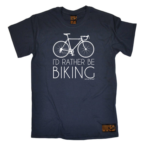Ride Like The Wind Cycling Tee - Id Rather Be Biking - Mens T-Shirt