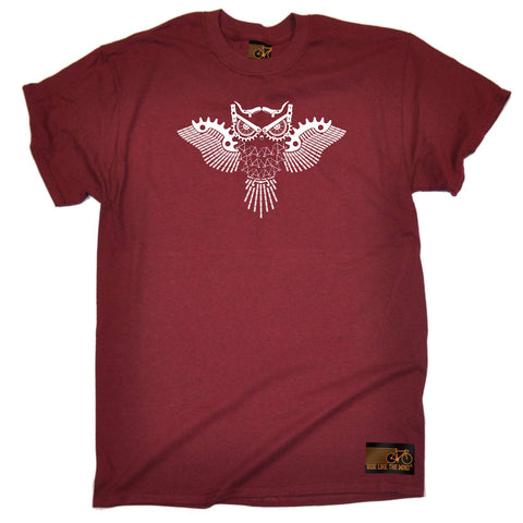 Ride Like The Wind Cycling Tee - Night Rider Owl - Mens T-Shirt