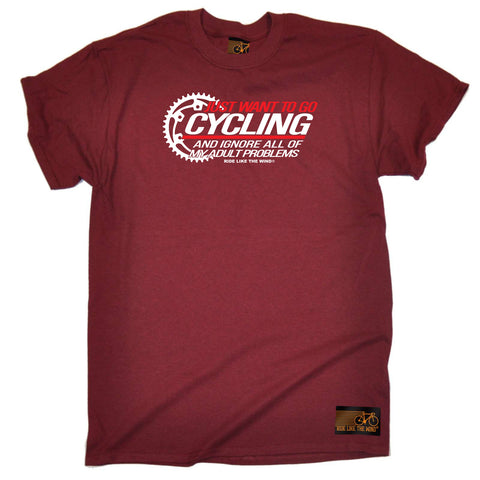 Ride Like The Wind Cycling Tee - Just Want To Go Cycling - Mens T-Shirt