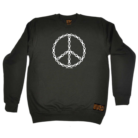 Ride Like The Wind Cycling Sweatshirt - Peace Chain - Sweater Jumper