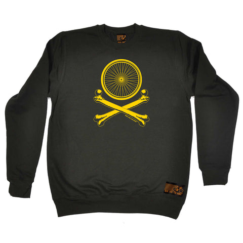 Ride Like The Wind Cycling Sweatshirt - Wheel Crossbones - Sweater Jumper