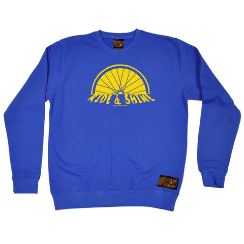Ride Like The Wind Cycling Sweatshirt - Ride And Shine - Sweater Jumper